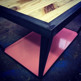 ADAM TABLE / METAL AND WOOD / 110X100X50 / 700
