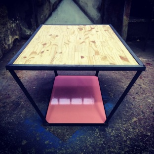 ADAM TABLE / METAL AND WOOD / 110X100X50 / 700 EU