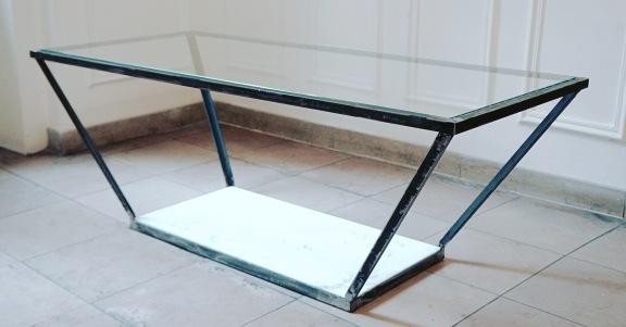 ADAM TABLE / METAL, GLASS AND MARBLE / 120X55X45 / 1100 EU