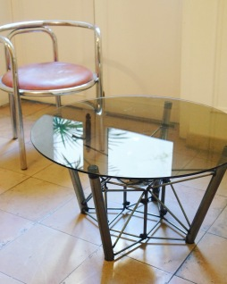 SPUTNIK TABLE (piece unique) / TEMPERED GLASS / 1200 EUROS